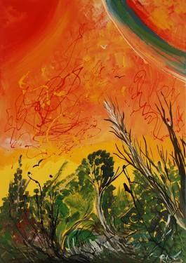 "Saatchi Art Artist Roberto Corso; Painting, ""RED WORLD"" #art"