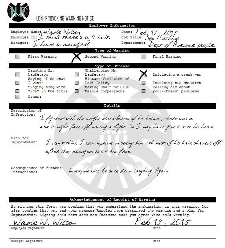Yalnızca Pinterestu0027te bulabileceğiniz 25u0027ten fazla en iyi Deadpool - employee information form