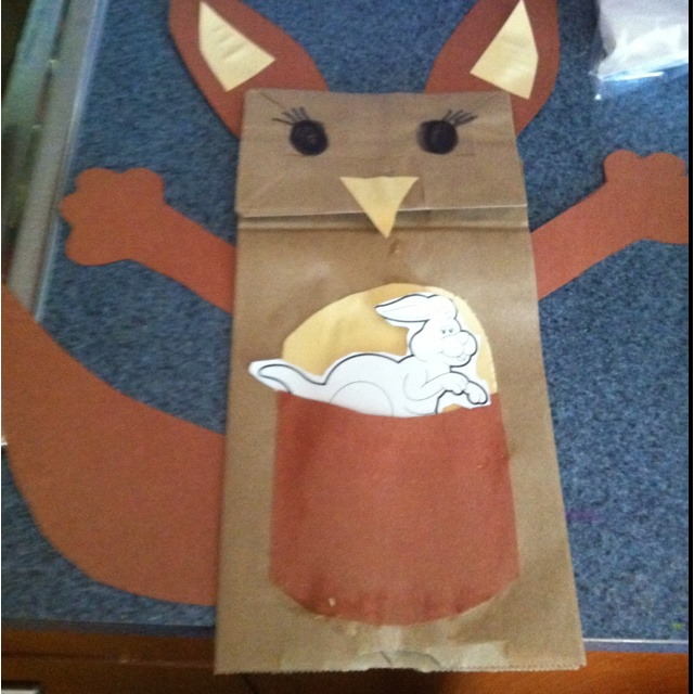36 best kangaroo crafts images on pinterest kangaroo for Paper mashing craft