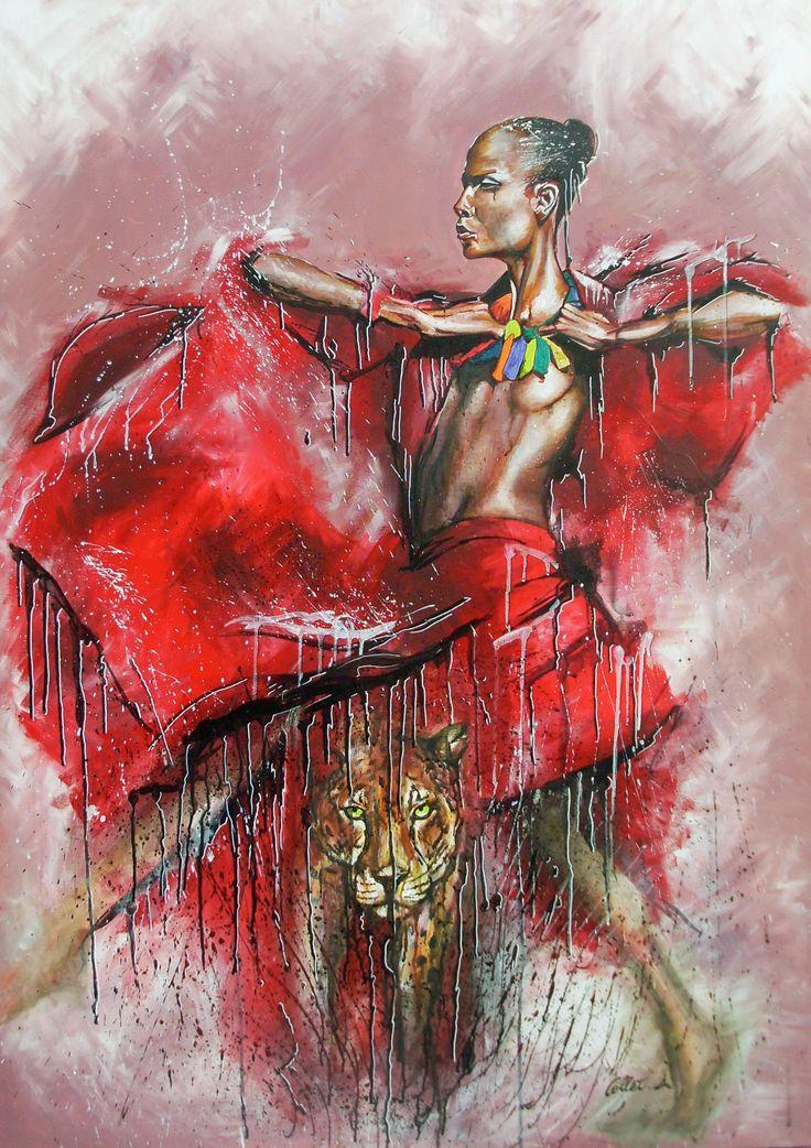 femme,tigre,aquarelle,acrylique,projeté,coulures,
