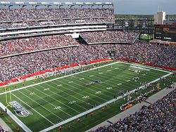 Gillette Stadium is a stadium located in Foxborough, Massachusetts, 21 miles (34 kilometers) southwest of downtown Boston and 20 miles (32 km) from downtown Providence, Rhode Island. It serves as the home stadium and administrative offices for both the NFL's New England Patriots football franchise and the MLS' New England Revolution soccer team.