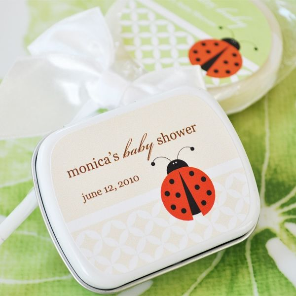 ladybug baby shower favors personalized