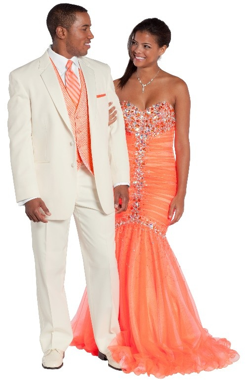 White Troy available at Michelles bridal and Tuxedo. Perfect look for prom right around the corner