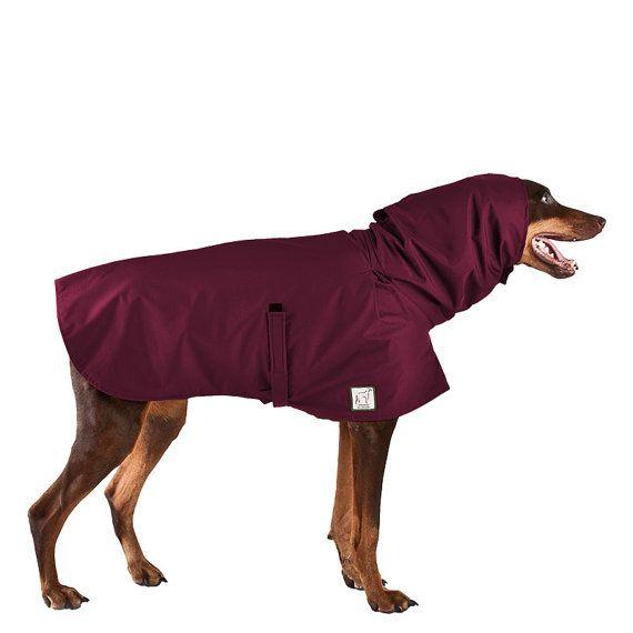 DOBERMAN PINSCHER Rain Coat Dog Coat Raincoat por VoyagersK9Apparel