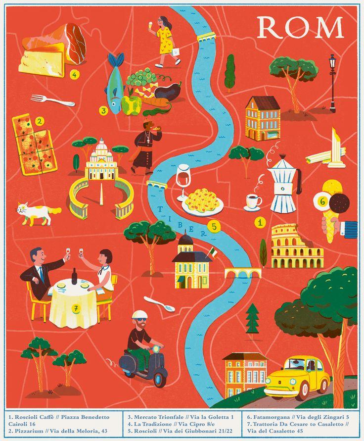 The Best Rome Map Ideas On Pinterest Rome Sights Rome - Rome map cartoon