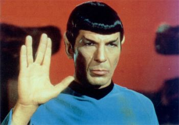 The symbolic origins of the Vulcan 'live long and prosper' hand gesture from Star Trek. (todayifoundout.com)