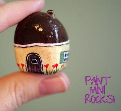 Painted mini rock!