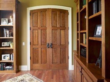 Cherry Preakness Radius Top Common Arch Single-Hip Raised Panel Door traditional-entry