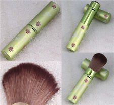 "1 Retractable Horse Mineral Makeup Powder Brush J0453 (Green with Flower and Butterfly print) by Health & Beauty. $15.19. RETRACTABLE Horse Hair Mineral Powder Brush. Free Gift : 1pc of Nail Art Decoration Glitter (Random Color). 100% Brand new in original Packaging. 1pc Rectractable Mineral Makeup Powder Brush. Tube is made in Alumunium  No Animals Have Been Harmed or Maimed For of Making these Brushes   Size: With Cap in Place 4.87"", Hair Length: 1.75""           ..."