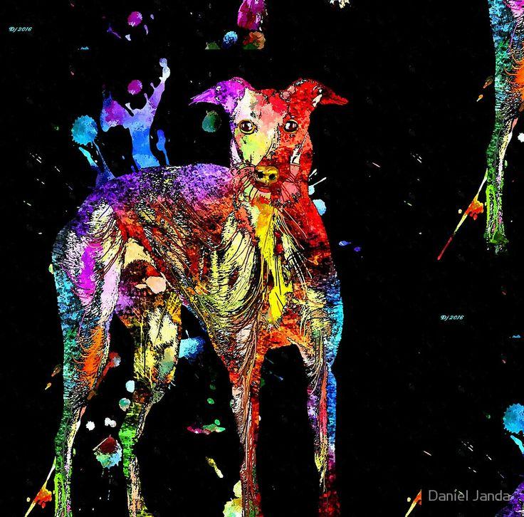 Greyhound Black Grunge