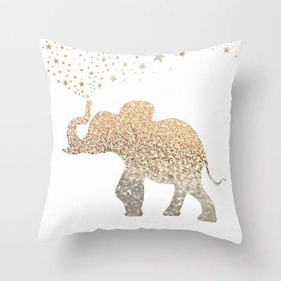 ELEPHANT Throw Pillow by Monika Strigel - $20.00
