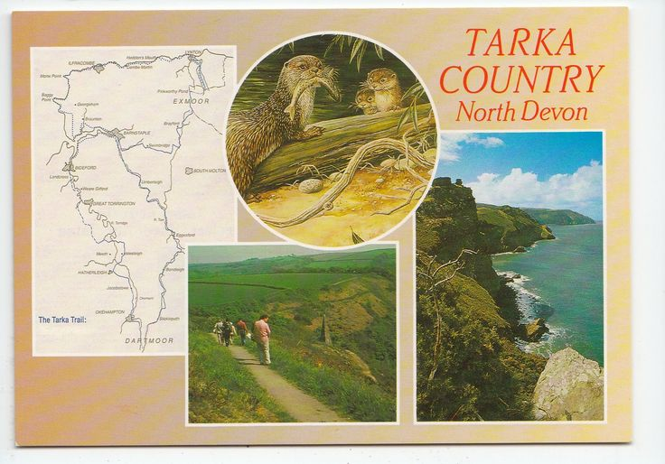 Tarka Country North Devon with Inset Tarka Trail Map Postcard 05