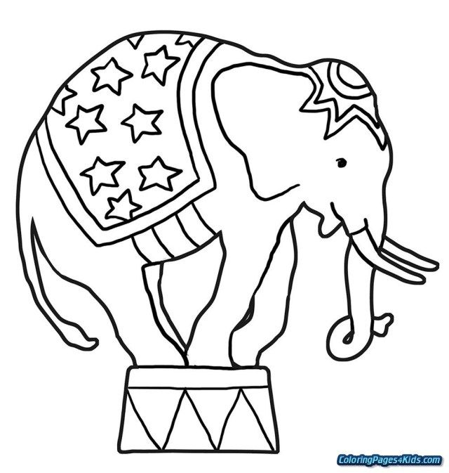 Circus Coloring Pages Elephant Coloring Page Coloring Pages