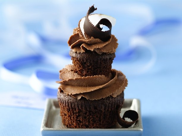 Double Dark Chocolate-Coconut Cupcakes