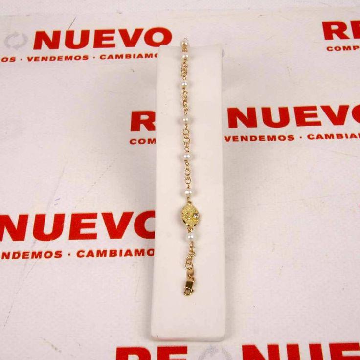 #Pulsera para comunión de #oro y perlas E269006A de segunda mano | Tienda online de segunda mano en Barcelona Re-Nuevo #segundamano