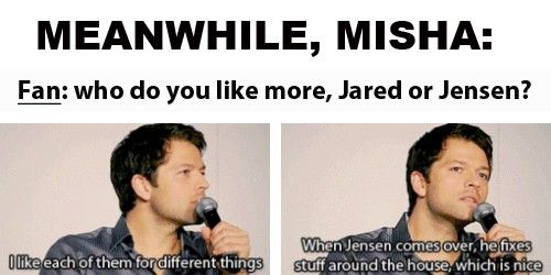 "(gif set) ""Who do you like more, Jared or Jensen?"""