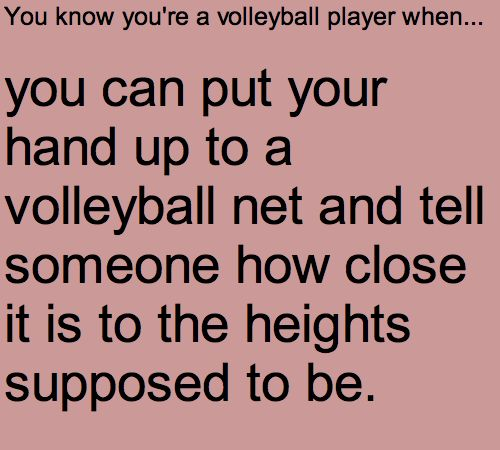 I did this one time, and the net is supposed to be at the top of my reach, and this on was so low I could grab it with my hand. It was helpful for my shorter teammates... and unfotrunately helpfun for the other team's 6' tall middle hitter... I was like whoa??