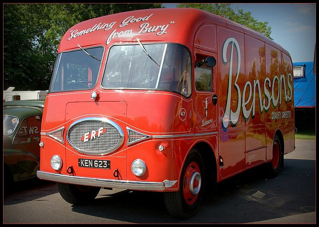 Beautiful delivery truck Bensons