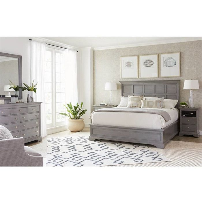 Stanley Furniture Transitional Panel Customizable Bedroom Set