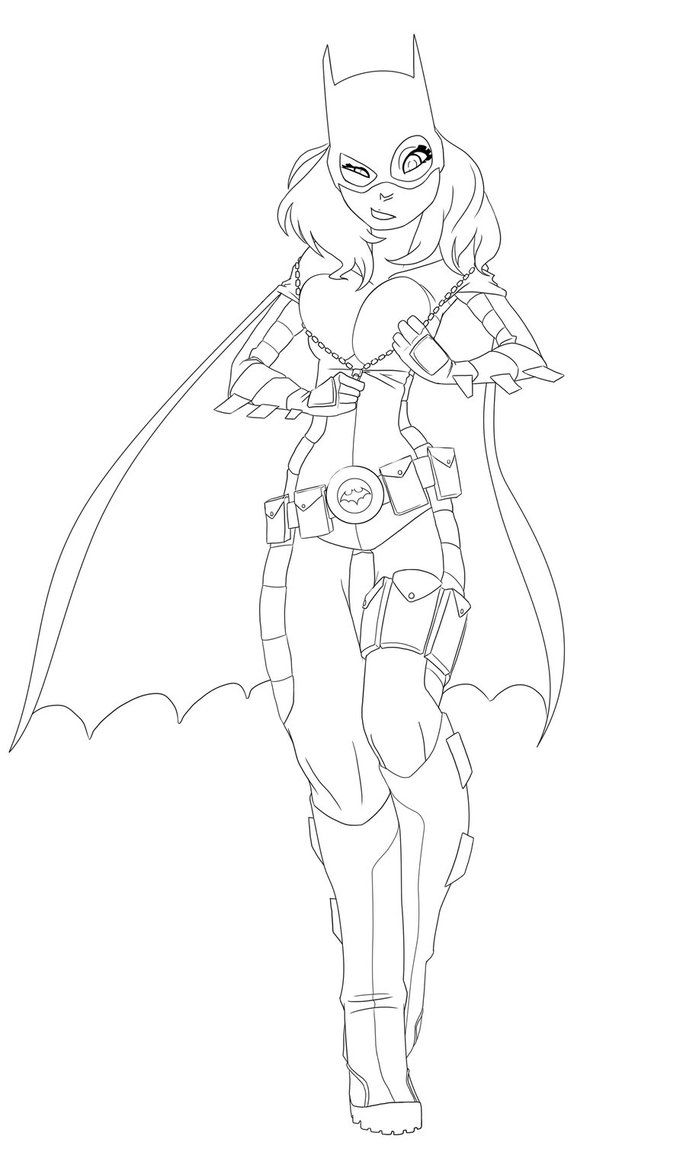free printable batgirl coloring pages for kids - Batman Batgirl Coloring Pages