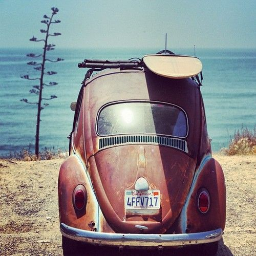 All you need in life a #VW a #View and a #Surfboard