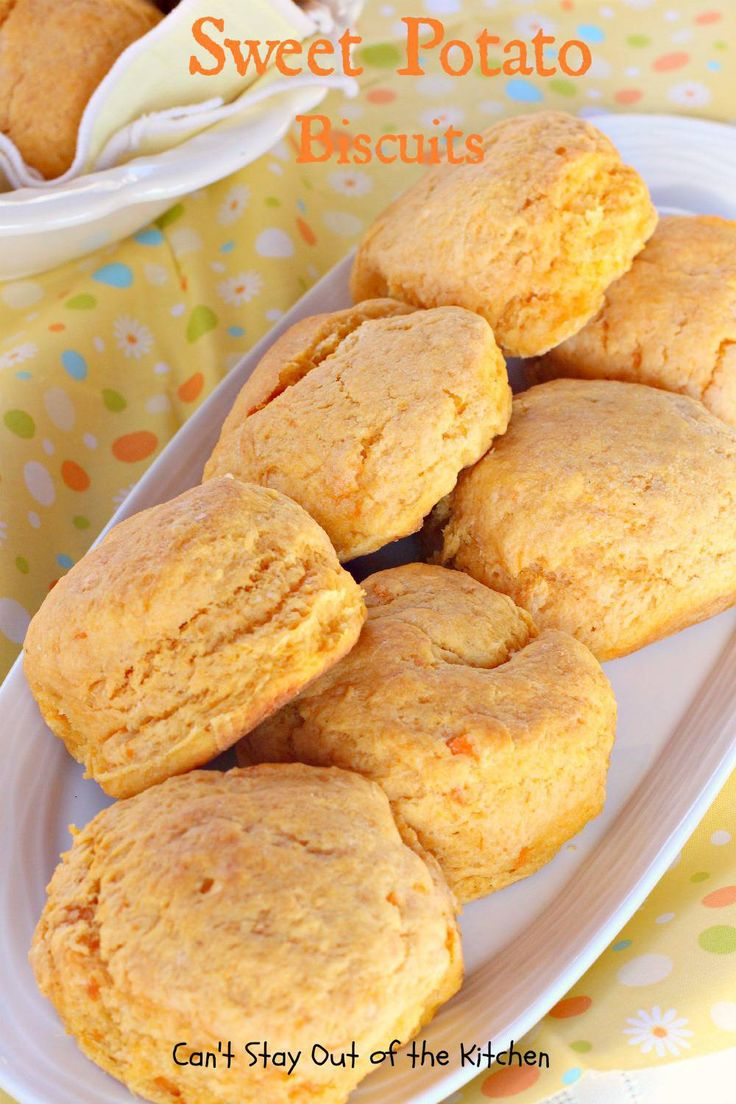 Sweet Potato Biscuits - Sub Coconut oil for butter, and leave sweetener out, or use a tsp of stevia. Also sub the flour with whole wheat flour. Works as drop biscuits if too lazy to roll out
