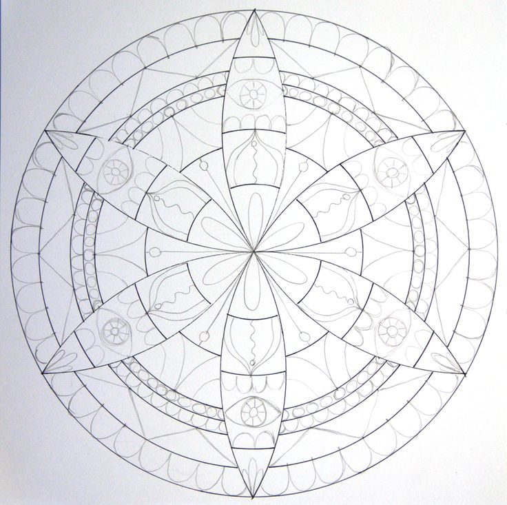 How to Draw a Mandala With a Compass - HowToGetCreative.com