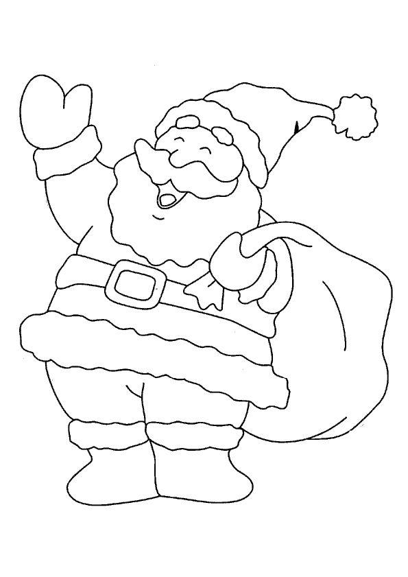 Kerst Kleurplaten Kerstman Tekening.Tekening Kerstman Kleurplaat De Kerstman 5482