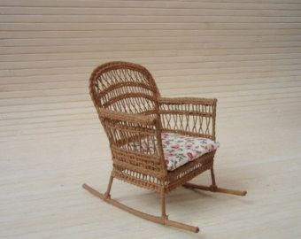 Dollhouse Wicker Chair Artist Signed Wicker by Louisianaminis