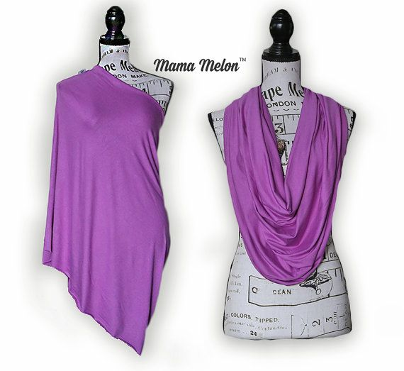 Nursing Scarf Cover  purple 3 in 1 Nursing Infinity by MamaMelonCA