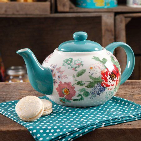 The Pioneer Woman Country Garden Teapot - Walmart.com                                                                                                                                                                                 More