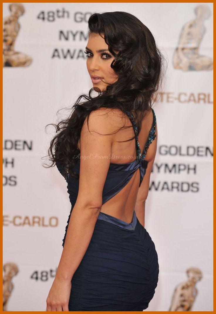 Kim K hair Celebrity Dresses 2014