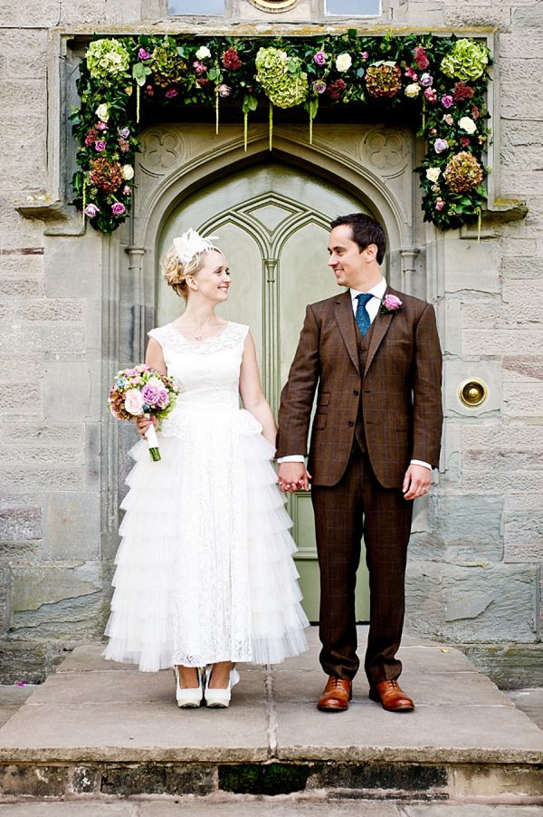 An Original 1950s Vintage Tiered Wedding Dress For A Relaxed and Retro Inspired Wedding
