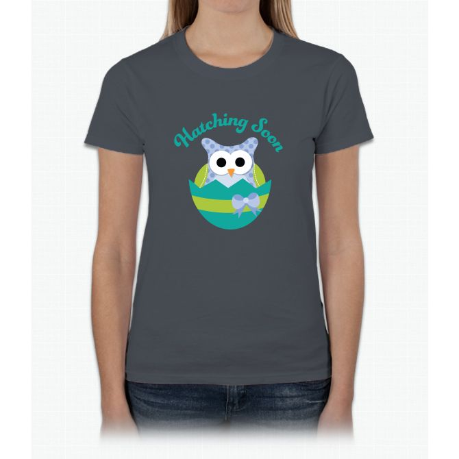Hatching Soon Easter Owl Maternity Womens T-Shirt