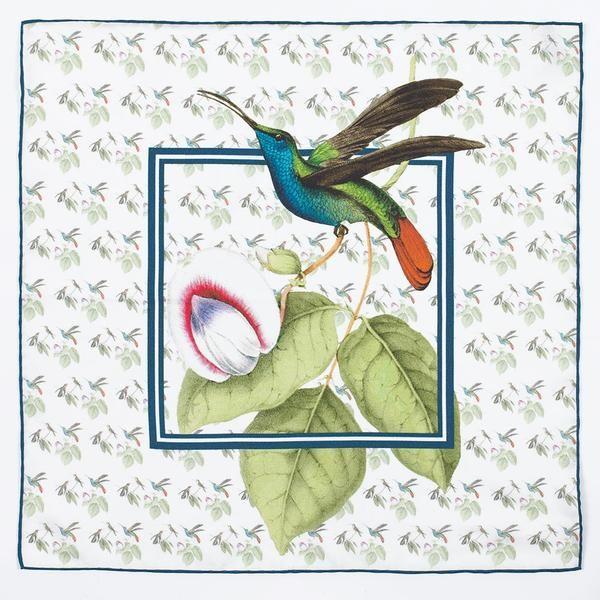 Hummingbird Silk Pocket Square.