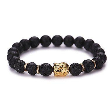 Strand armband vintage zwart met goud kleur Yoga geometrische vorm