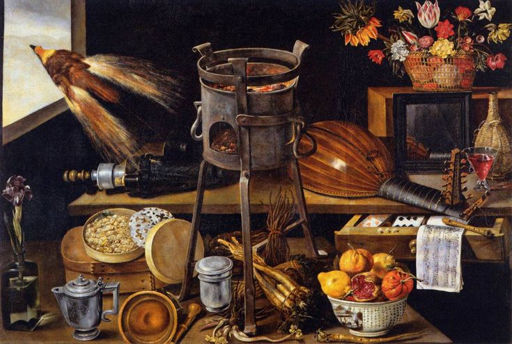 allegory in art | The Five Senses and the Four Elements by LINARD, Jacques