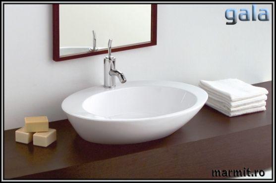 Lavoar oval pe mobilier Gala Luna, obiecte sanitare, cazi de baie, cazi…