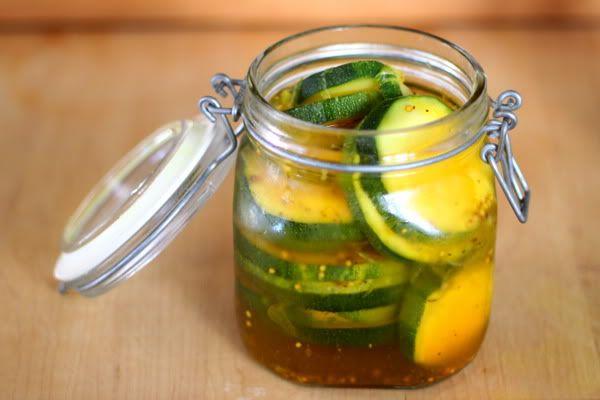 Sweet Zucchini Pickles Recipe | Prudent BabyPickles Recipe, Pickles Zucchini, Yum Food Drinks, Pickle Recipes, Zucchini Pickles, Eating Healthy, Canning Preserves, Sweets Zucchini, Hostess Gift