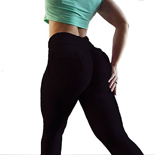 df1c17891cf98 YOFIT Women Ruched Butt Yoga Pants Lifting Leggings High Waisted with  Pockets Sport Tummy Control Gym