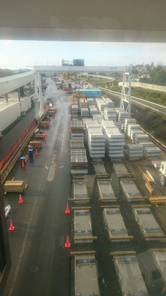 Looking South from 50 tonne gantry