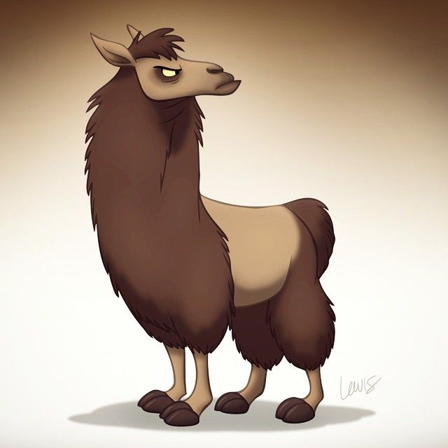 Now that my blog is dead, I guess I'll start posting my drawings here instead. #stlewis #art #cartoon #llama