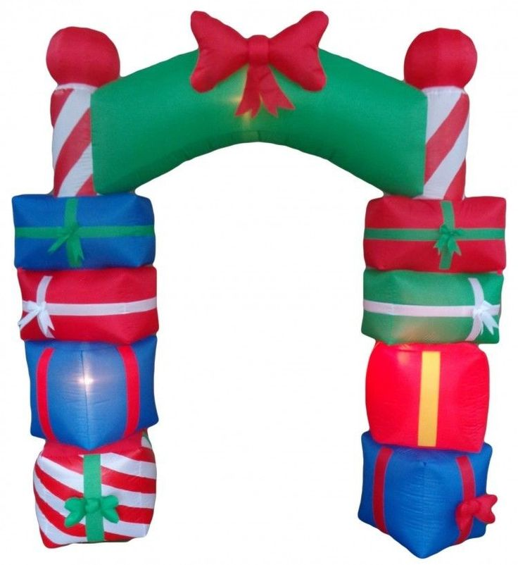 Christmas Gift Boxes Archway Airblown Inflatable 8 Ft Yard Lighted Xmas Decor #easy_shopping08
