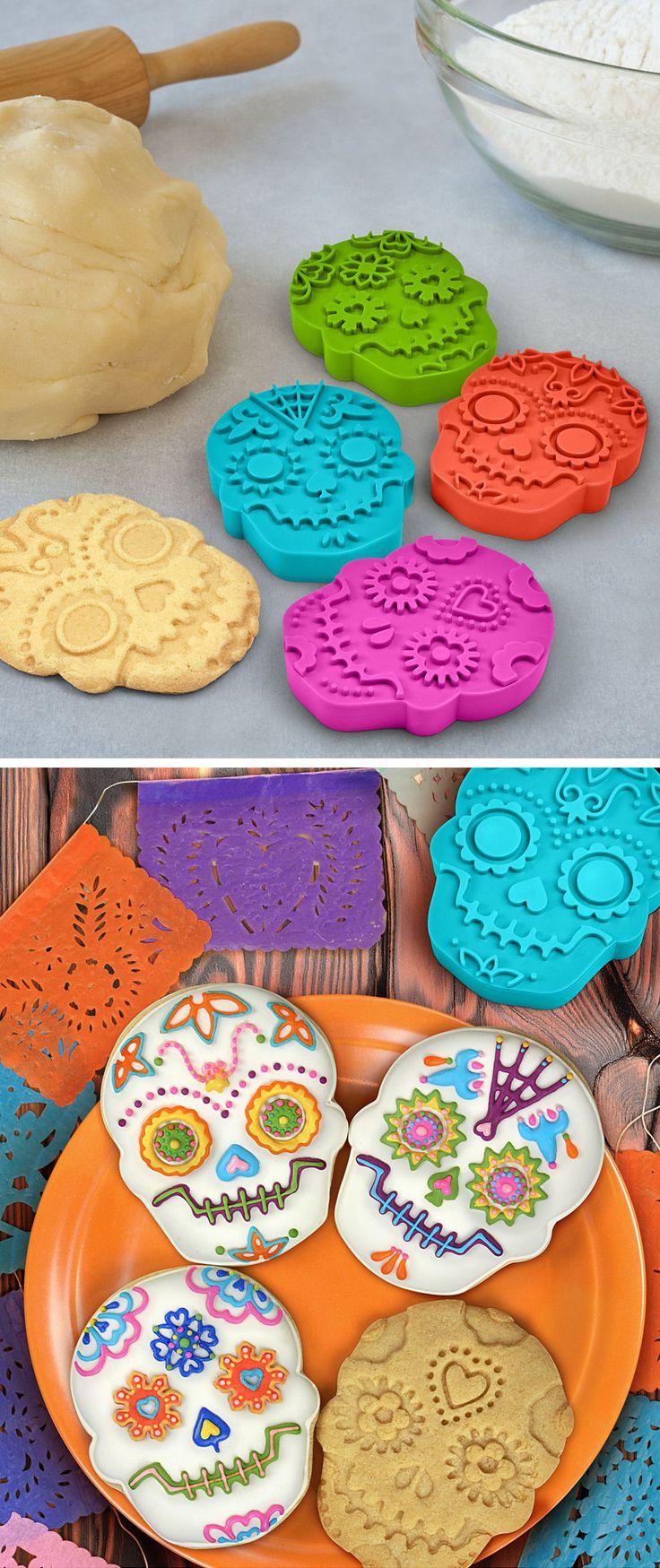 Sugar Skull Cookie Cutter Set ♥ #halloween #fun