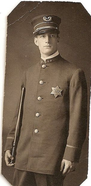 """CHICAGO POLICE ~ LINCOLN PARK OFFICER ~ LATE 1800's ~ Badge #143 with the """"LP"""" in the hat shield. Note the """"LP"""" for Lincoln Park on the hat shield and collars.  Chicago Police Officers were assigned to the Park Districts back in the day - North Park, Lincoln Park and South Park.  They were """"official"""" Chicago Police, however, they were issued badges and shields indicating their assigned Park District atea."""