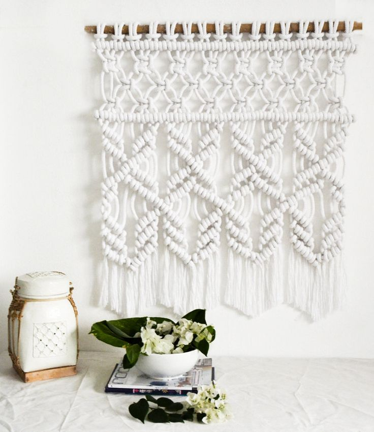Pure Marcame Wallhanging / Modern Macrame / textile / tapestry by RanranDesign on Etsy