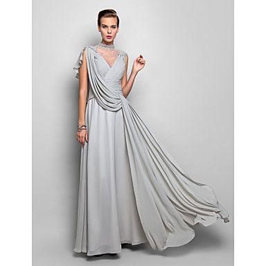 Formal Evening/Military Ball Dress Sheath/Column Halter Floor-length Chiffon Dress – AUD $ 206.99