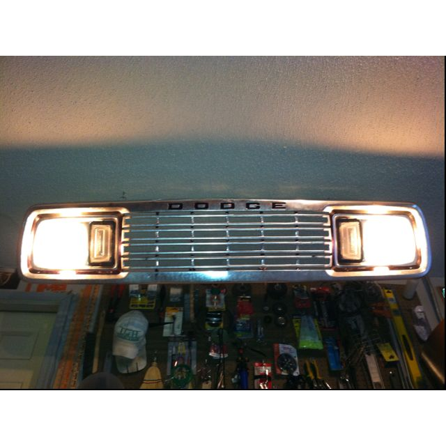Up Cycling A Dodge Grill Into A Garage Shop Light. #Man #Cave