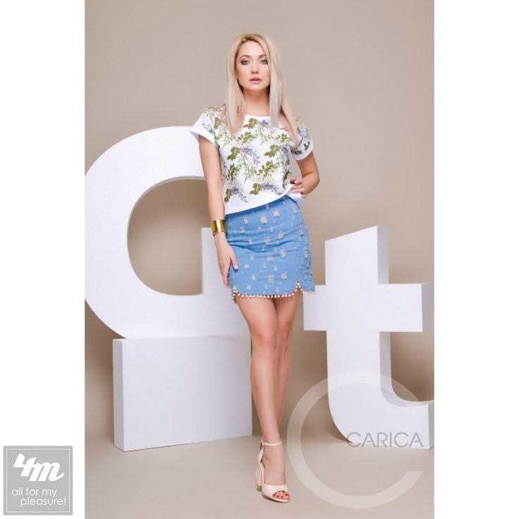 Юбка Carica «UB-3221» (Голубой) http://lnk.al/4Hkx  Джинсовая юбка с дырками. Завышенная посадка. Сзади змейка. По низу бахрома.  #юбка #юбки #юбкавналичии #юбкамечты #юбкивналичии #стильжизни #одеждаУкраина #4m #4mcomua