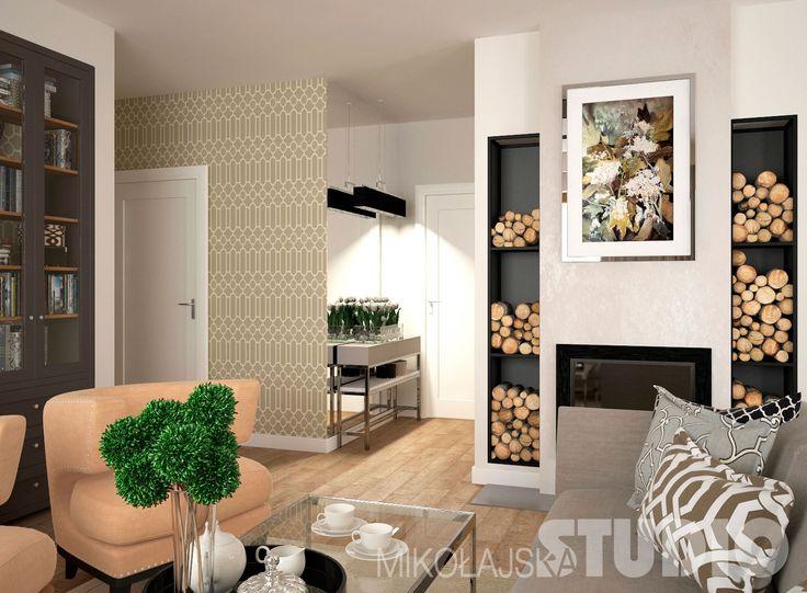 Salon w stylu nowojorskim #wnętrza #styl nowojorski